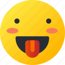 avatar, emoji, emoticons, emotion, face, smiley, tongue icon