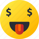 avatar, emoji, emoticons, emotion, face, money, smiley