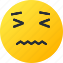 avatar, emoji, emoticons, emotion, face, nervous, smiley icon