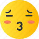 avatar, emoji, emoticons, emotion, face, kiss, smiley icon