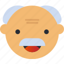 avatar, emoji, emoticons, emotion, face, grandpa, smiley icon