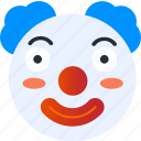 avatar, clown, emoji, emoticons, emotion, face, smiley