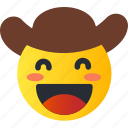 avatar, cowboy, emoji, emoticons, emotion, face, smiley