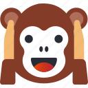 avatar, emoji, emoticons, emotion, face, monkey, smiley