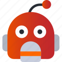 avatar, emoji, emoticons, emotion, face, robot, smiley icon