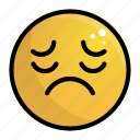 emoji, emotion, face, feeling, sad icon