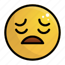 depressed, emoji, emotion, face, feeling icon