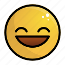 emoji, emotion, face, feeling, smile icon