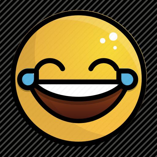 Emoji, emotion, face, feeling, haha, laugh icon - Download on Iconfinder
