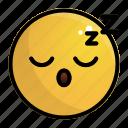 emoji, emotion, face, feeling, rest, sleep