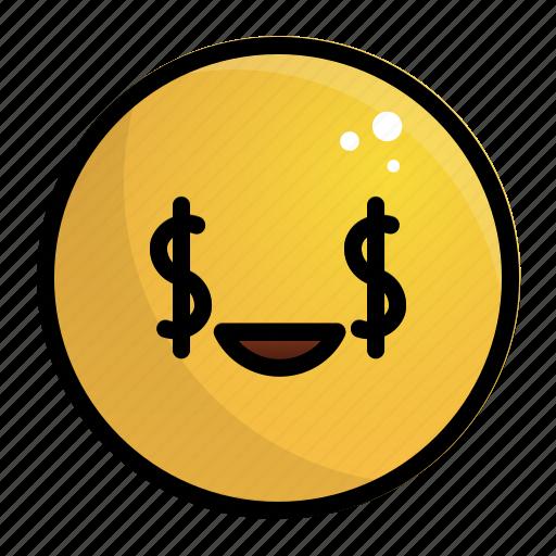 Emoji, emotion, face, feeling, rich icon - Download on Iconfinder