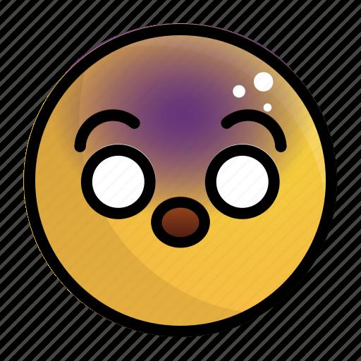 emoji, emotion, face, feeling, shocked icon