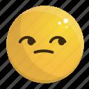bored, emoji, emotion, face, feeling icon