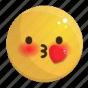 emoji, emotion, face, feeling, heart, kiss