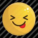 emoji, emotion, face, feeling, smile, tongue icon