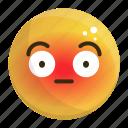 emoji, emotion, face, feeling, shy icon