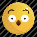 emoji, emotion, face, feeling, wow icon