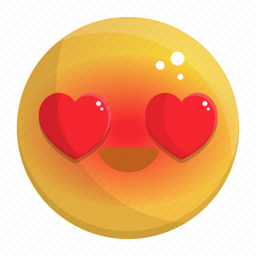 Emoji, emotion, face, feeling, heart, in, love icon - Download on Iconfinder