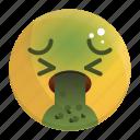 emoji, emotion, face, feeling, puke icon