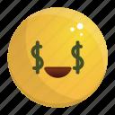 emoji, emotion, face, feeling, rich icon