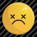 dead, emoji, emotion, face, feeling icon