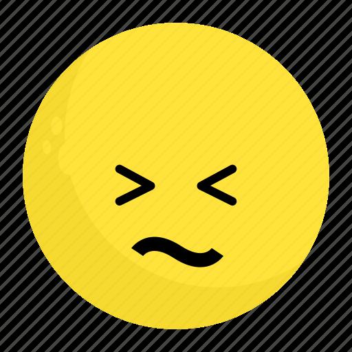 Confounded, emoji, emotion, face, feeling icon - Download on Iconfinder