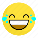 emoji, emotion, face, feeling, happy, laugh, smile icon