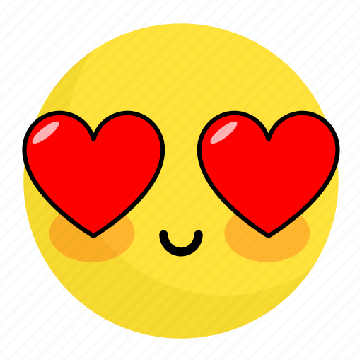 Emoji, face, feeling, happy, heart, love, smile icon - Download on Iconfinder
