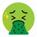 emoji, emotion, face, feeling, ill, puke, unhappy
