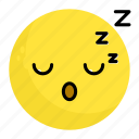 emoji, emotion, face, feeling, sleep