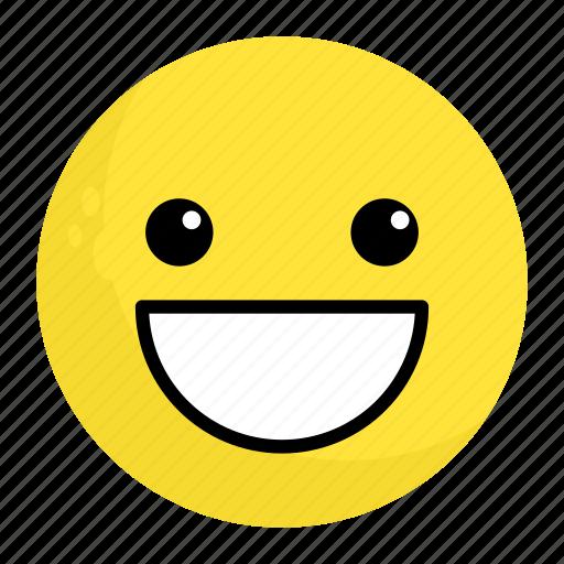 emoji, emotion, face, feeling, happy, smile icon