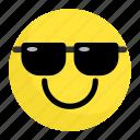 emoji, emotion, face, feeling, happy, smile, sunglasses icon