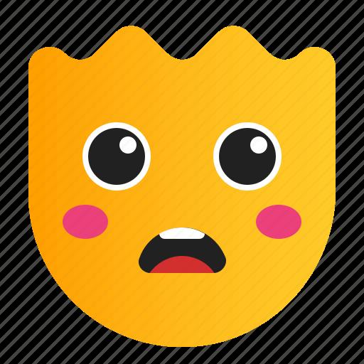 emoji, emoticon, expression, smiley, surprised icon