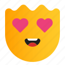 emoticon, emotion, expression, love, romance, valentine icon