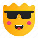 cool, cool face, emoji, emoticon, face icon