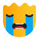 cry, crying, expression, face, sad icon