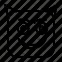 avatar, emoji, emoticon, face, happy, horror, smiley
