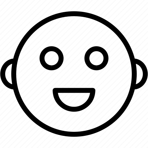 Emoticon, face, smiley, happy icon