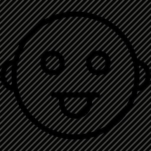 cheeky, emoticon, expression, happy, smiley, wink icon