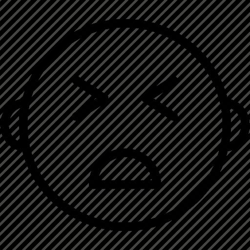 angry, emoji, emoticons, smiley, upset icon