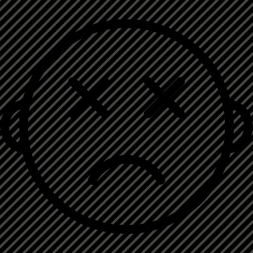 Emoticon, dead, emoji, face, smiley icon - Download on Iconfinder