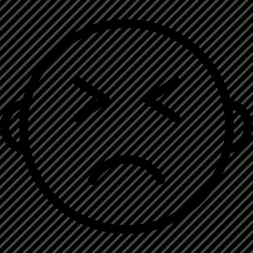 emoji, emoticon, emotion, face, sad icon