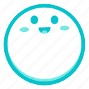 emoji, face, fortunate, glad, happy, pleased icon