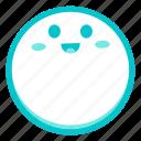emoji, face, fortunate, glad, happy, pleased