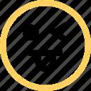 emoji, emotion, face, funny, reaction icon