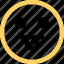 emoji, emotion, face, fooling, funny, reaction icon