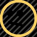 emoji, emotion, face, looking, reaction icon