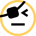 emoji, emotion, eye, face, one, reaction icon