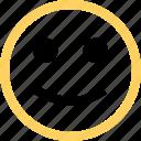 emoji, emotion, face, happy, reaction, smile icon