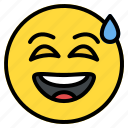 disbelief, emoji, emoticon, face, grinning, happy, smiley